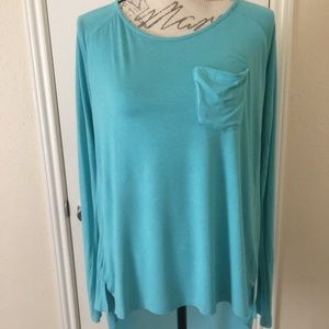 Comfy teal blouse